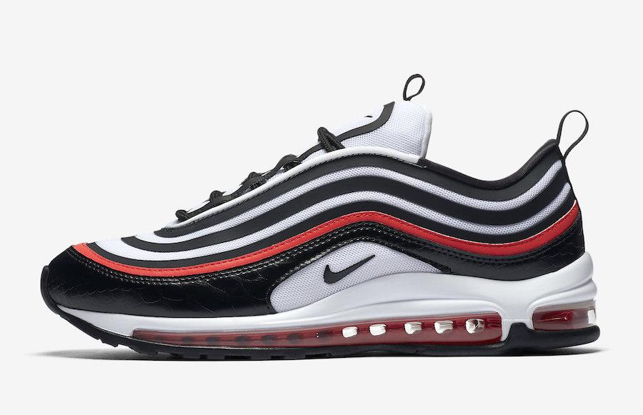 La Nike Air Max 97 s'habille de noir serpent et de rouge
